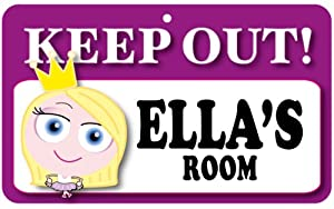 Keep Out Door Sign Ella S Room Amazon Co Uk Kitchen Amp Home