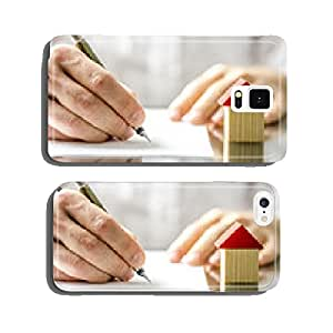 Man signing a contract when buying a new house cell phone cover case Samsung S6