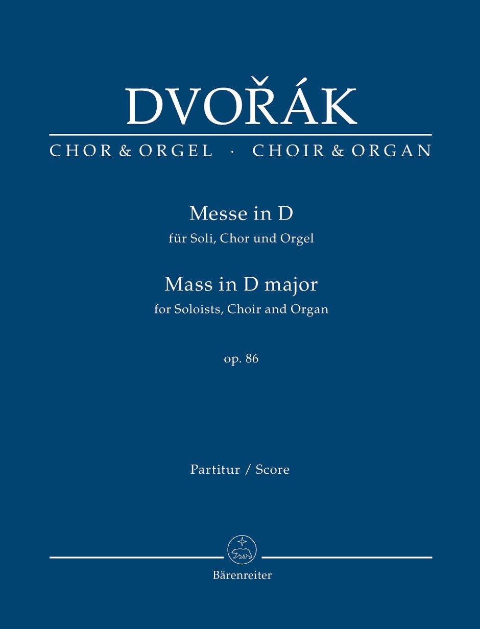 Messe in D op. 86. Für Soli, Chor und Orgel. Chorpartitur, Urtextausgabe