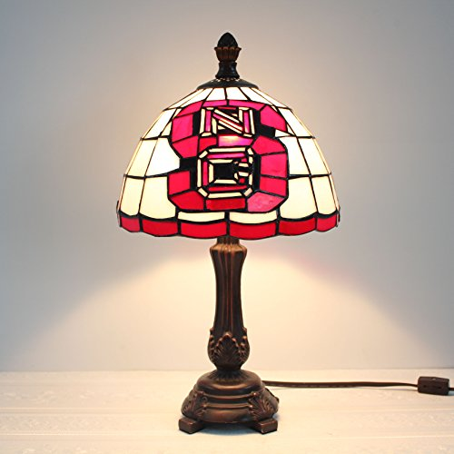 (Royal- 9-inch NCAA North Carolina State Wolfpack Stained Glass Table Lamp)