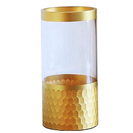 LiRuShop Jarrones Florero de Cristal Florero Moderno hogar Creativo Sala de Estar florero de Vidrio decoración