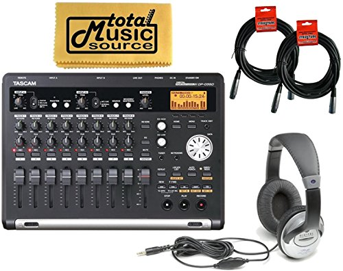 PACK 8-Channel Digital Portastudio SD Card Portable USB Recorder with Cables and Headphones - Tascam DP-03SD