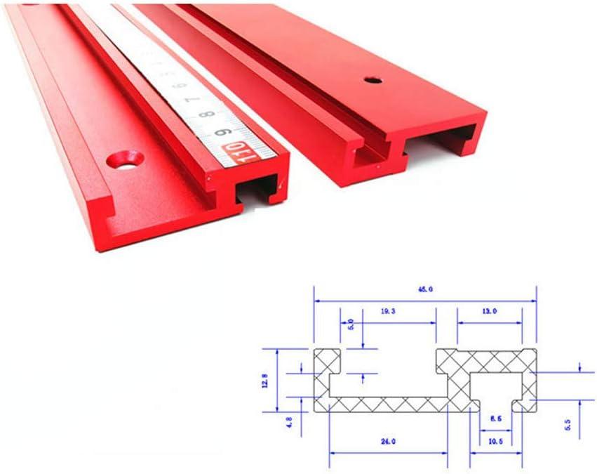belupai 400mm alliage daluminium rouge 45 type t-rail /à bois t-slot rainure /à onglet
