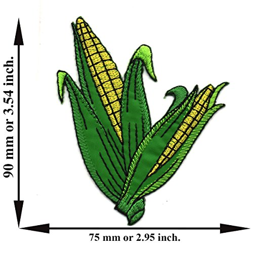 (Powerwarauto Ear Of Corn Vegetable Fruit Garden Cartoon Food Applique Iron on Patch Sew DIY )