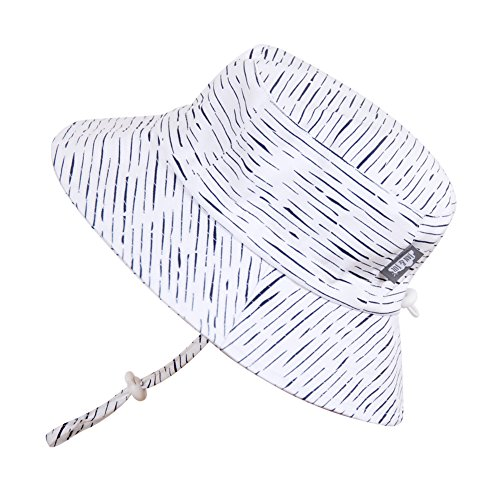 baby-sun-hat-with-chin-strap-adjustable-head-size-50-upf-cotton-bucket-s-0-6m-white-waves-