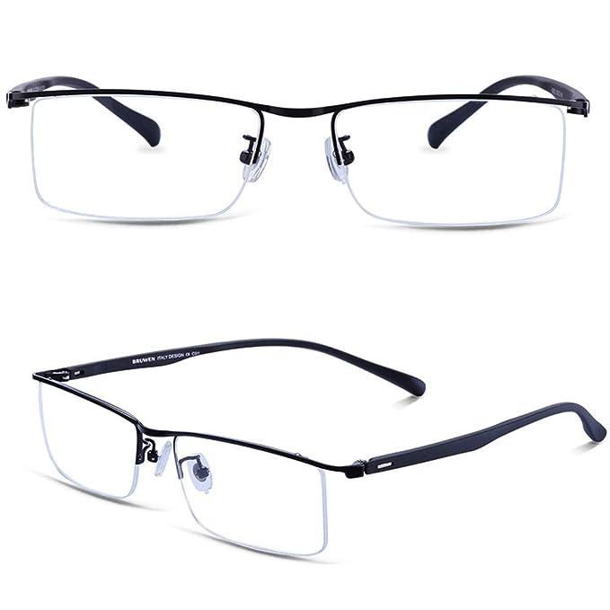 2220530ac8 Amazon.com  BRUWEN Glasses Frames for Men Women