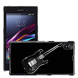 Super Stellar Slim PC Hard Case Cover Skin Armor Shell Protection // M00049653 aero black guitar 3d // Sony Xperia Z1 L39H