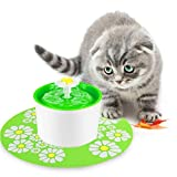 Petacc Pet Water Fountain Drinking Fountain Electric Fountain Waterer Healthy Drinking Water Bowl for Dogs and Cats (Green)