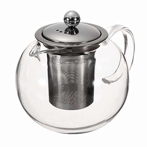 Glass Teapot Set, 45 Ounce / 1300 Milliliter Stylish Tea Ket