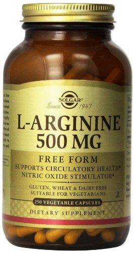 Cápsulas vegetales Solgar L-arginina, 500 mg, 250 cuenta