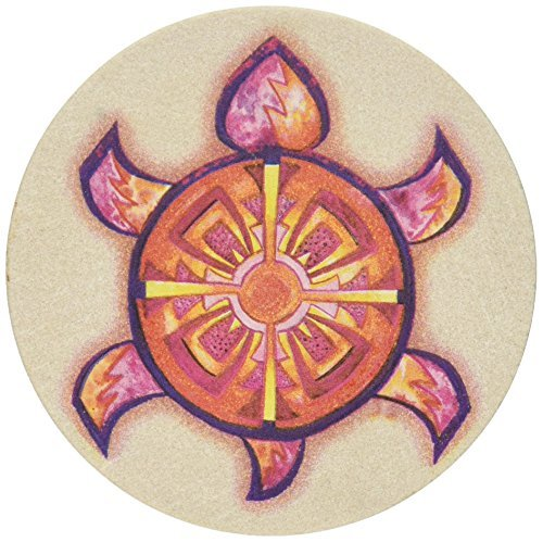 Thirstystone Stoneware Indian Turtle Coaster, Multicolor by Thirstystone
