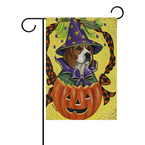 NRDSZT Unisex Beagle Halloween Home Garden Flag Vertical Double Sided Yard Outdoor Decorative ()
