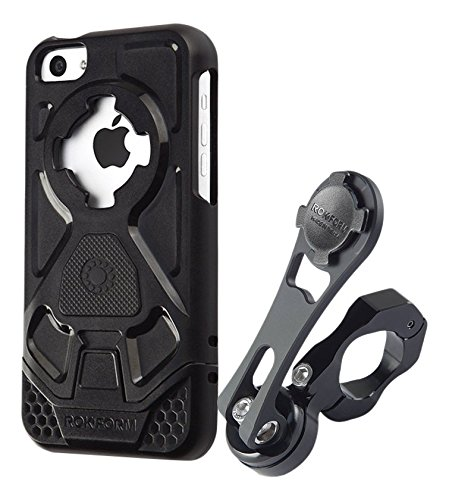 [Rokform iPhone 5c Pro Series Motorcycle Mount / Holder Kit with 5c Protective Case & Universal RokLock Twist Lock & Magnetic Mount System that's Made in USA from CNC Machined Aluminum] (Series Universal Motor)