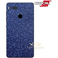 SopiGuard Essential Phone PH1 Carbon Fiber Rear Panel Precision Edge-to-Edge Coverage Easy-to-Apply Vinyl Skins (Honeycomb Blue)