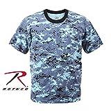 Rothco T-Shirt, Digital Sky Blue Camo, X-Large