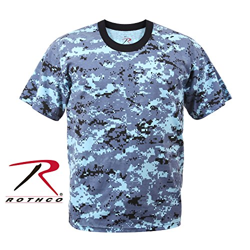 Rothco T-Shirt, Digital Sky Blue Camo, X-Large by Rothco
