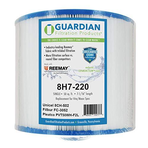 - Guardian Pool Spa Filter Replaces Pleatco: PVT50WH-F2L Unicel: 8CH-502 Filbur: FC-3052 Vita, Maax Spas