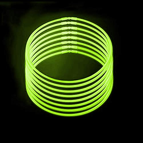 Lumistick 20 Inch Glow Stick Necklaces with Connectors | Kid Safe and Non-Toxic | Light Up Glowstick Necklaces Party Pack | Available in Bulk and Color Varieties | Glows up -