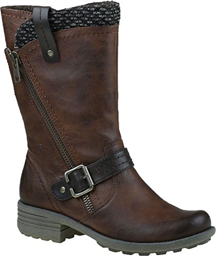 Earth Origins Presley Womens Boot , Brown, Size - 6 (Brown Leather Presley)
