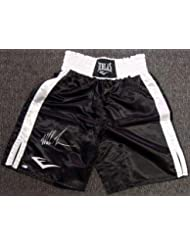 Mike Tyson Authentic Autographed Signed Black Everlast Boxing Trunks - Tristar Productions Certified