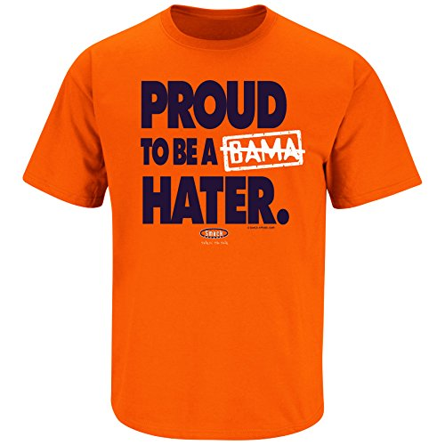 (Smack Apparel Auburn Football Fans. Proud to Be a Hater. (Anti-Alabama) Orange T Shirt (Sm-5X) (3XL))