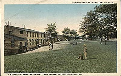 View of Barracks in Artillery Division Louisville, Kentucky Original Vintage Postcard