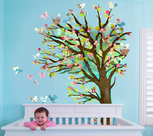 Oopsy Daisy Peel and Place Cherry Blossom Tree by Winborg Sisters, 54 by 60-Inch by Oopsy Daisy
