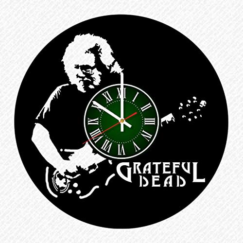 Grateful Dead Band Music Vinyl Record 12 Inch Wall Clock Room Wall Decor Music Art Gift Modern Home Vintage Decoration Gift Birthday Halloween Christmas Gifts]()
