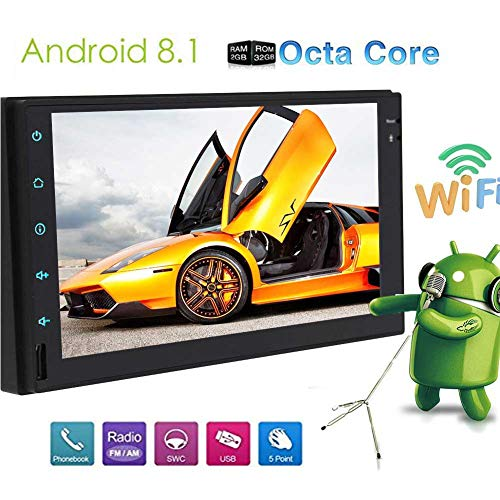 EinCar Android 8.1 OS Octa Core 7 inch Car Audio for Univers