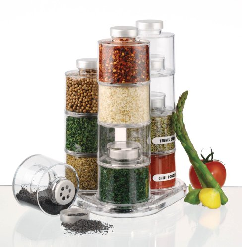 Prodyne ST-12 Spice Tower Carousel, 12-Bottle Jar Spice Carousel