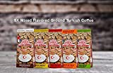 ilyas Gonen Dibek Ground Turkish Coffee/Plain Dibek and 19 Different Flavored (100g / 3,5oz) (5 x Mixed Flavored Ground Turkish Coffee) -  Dibek Kuru Kahve