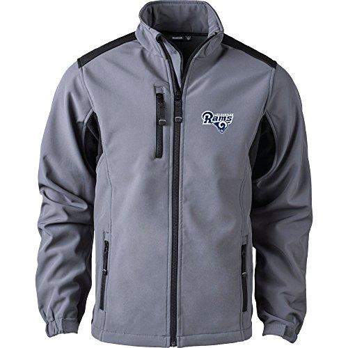 Dunbrooke Apparel NFL Los Angeles Rams Men's Softshell Jacket, X-Large, Graphite by Dunbrooke Apparel