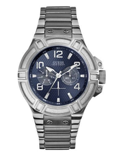 GUESS-Mens-U0218G2-Rigor-Standout-Sporty-Multi-Function-Watch-with-Blue-Dial