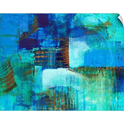 CANVAS ON DEMAND Mystic Bleu Wall Peel Art Print, 36