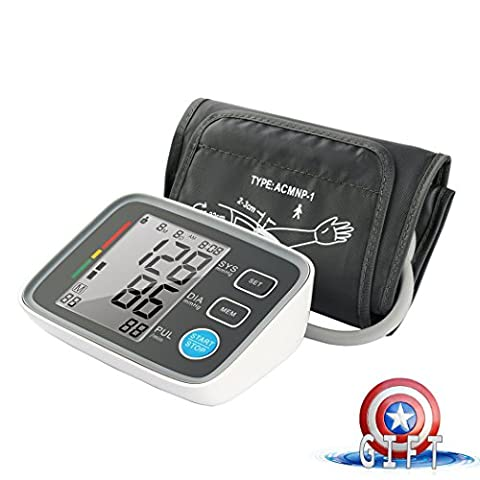 Fam-health Automatic Digital Upper Arm Blood Pressure Monitor Clinically Validated Sphygmomanometer, FDA Approved [2017 NEW VERSION] - Automatic Arm