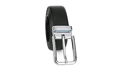 QINCH Cinturón de Cuero para Hombre Cinturón de Hebilla ...