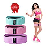 Hurdilen Resistance Bands Loop Exercise Bands Booty Bands – Workout Bands Hip Bands Wide Resistance Bands Hip Resistance Band for Legs and Butt - Activate Glutes and Thighs (Pink,Green,Purple)