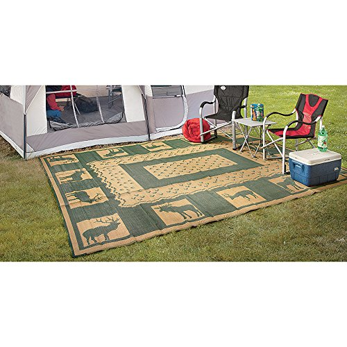 Outdoor Reversible Patio/RV Mat, 9ft. x 12ft. - Wilderness, Model# 47947