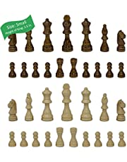 Staunton Chess Pieces with Extra Queens