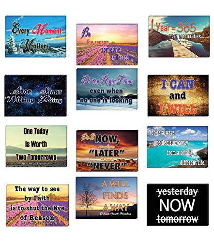 Creanoso Inspiring Words of Wisdom Positive Thinking Mindset Postcards (24-Pack) – Assorted Card Stock Bulk Set – Premium Quality Greeting Cards – Stocking Stuffers Gift for Men, Women, Teens, Adults