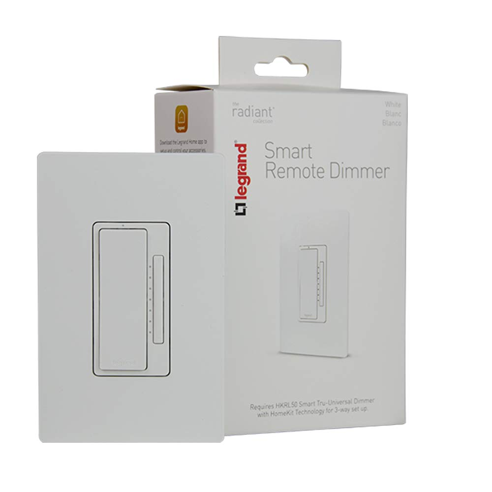 Legrand-On-Q HKRL50WH Smart Dimmer Light Switch, Works with Apple HomeKit, Alexa & Google Assistant, WiFi, No Hub Required,
