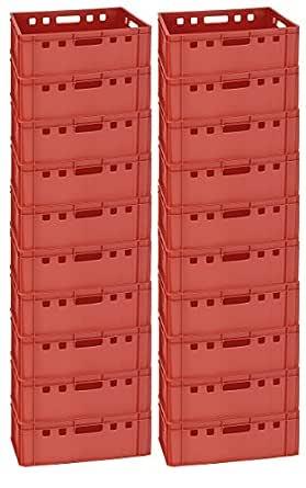 Gastlando - Cajas de almacenaje (20 unidades, E2, 60 x 40 x 20 cm ...