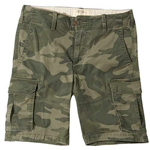 Hollister Men's Hollister Classic Fit Cargo Shorts Bermuda, Size 30, Camo (626523057) (Shorts Hollister Men Cargo)