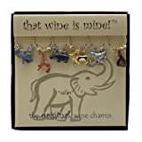 Wine Things WT-1470P Safari Wine Charms, Painted