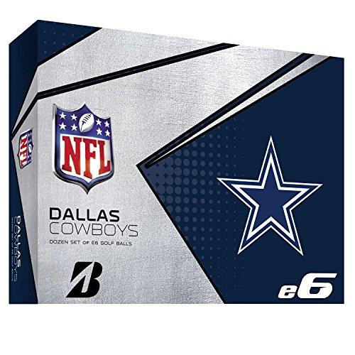Bridgestone 6SWXNFLDC E6 Dallas Cowboys Golf Balls (1 Dozen), White by Bridgestone Golf