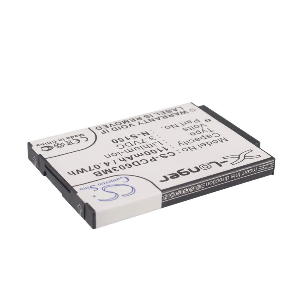 Velocidad: 4.07Wh Voltaje: 3.7 V para bater/ía BabyPhone para Philips SCD603 SCD-603//00 SCD-603H Philips 996510061843 N-S150 SN-S150 Ghpter Capacidad: 1100mAh