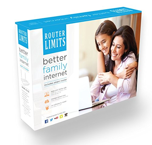 Router Limits cloud-based parental controls for internet safety from harmful content and managing screen time (RL-150 (Router))