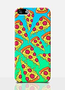 Pizza Iphone 5c Case Simpsons Style Comic Funny Meme Burger Drawing Mobile Cover