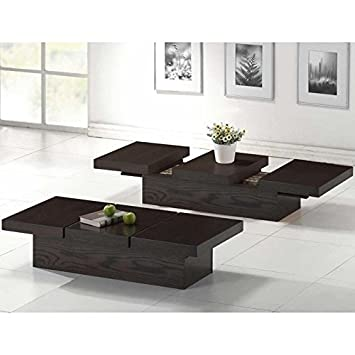 Ordinaire Amazon.com: Baxton Studio Cambridge Brown Wood Modern Coffee Table With  Hidden Storage: Kitchen U0026 Dining