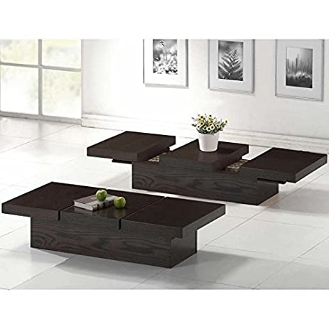 Amazoncom Baxton Studio Cambridge Brown Wood Modern Coffee Table